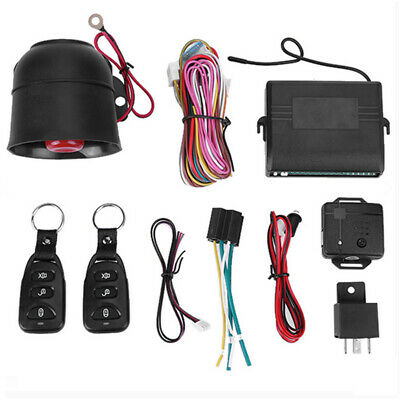 Car Vehicle Security System Burglar Alarm Protection Anti-theft 2 Remote US U0T7