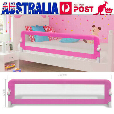 2PCS Child Safety Bed Rail Toddler Baby Bedrail Fold Cot Guard Protection V1N7