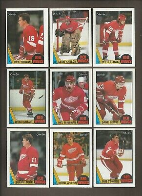 1987-88 🔥 OPC Detroit RED WINGS Lot (11) 🔥 O Pee Chee NM-MT Hockey Card