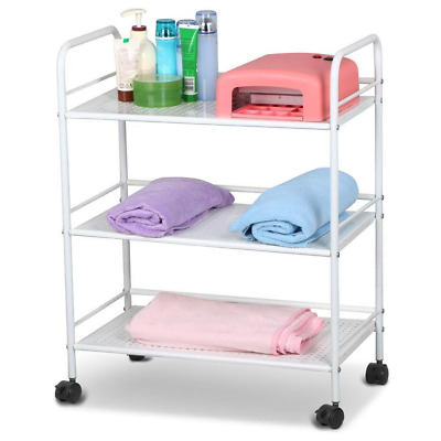 Yaheetech 3 Shelf Large Salon Beauty Trolley Cart Spa Storage Dentist Wax