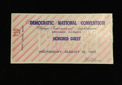1968 Democratic National Convention Honored Guest Ticket