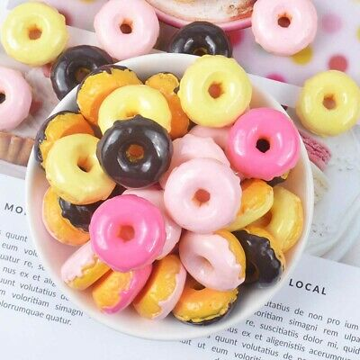 10Pcs Slime Charms Donut Resin Plasticine Slime Accessories Filler Candy Sweets