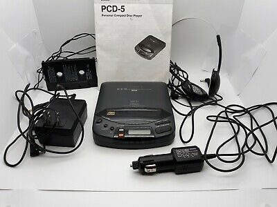 Vintage Fisher Discman Portable Cd Player Pcd-5 Car Kit With Headphones - Works