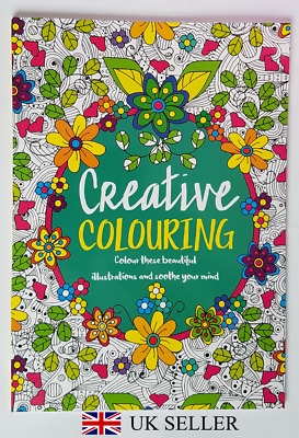 Creative Colouring - Anti Stress Adult Colouring Really Relaxing Art Therapy