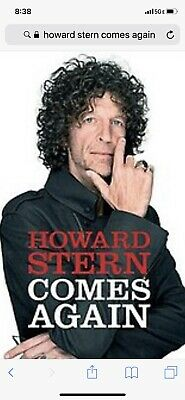 Howard Stern Comes Again (Hardcover) First Edition 2019