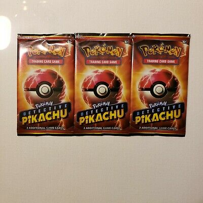 Set Of 3 Detective Pikachu Pokemon Game Cards Exclusive at Movie Theaters