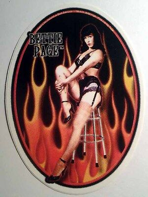 Bettie Page Decal Sticker 1950'S Vintage Pin Up Girl Model Art Rockabilly