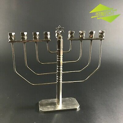 ANTIQUE 20th CENTURY ART-DECO JEWISH MENORA WIRE-FORM HANNUKAH TRADITIONAL