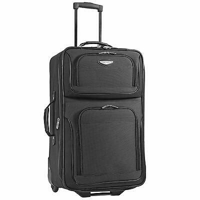 Travel Suitcase Bag Rolling Trolley Carry On Luggage Travelling Expandable 25''