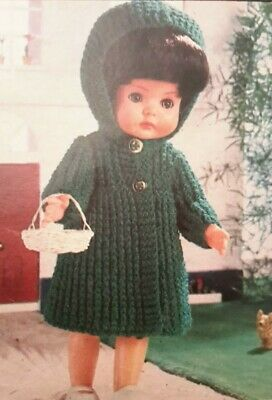 """Knitting Pattern DOLLS COAT DRESS TROUSERS TOP PANTIES Clothes OUTFIT 12""""  30cm"""