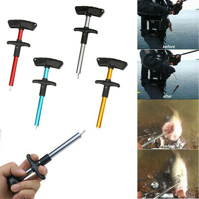 Easy Fish Hook Remover Puller Fishing Tool T-Handle Extractor Tackles Detacher
