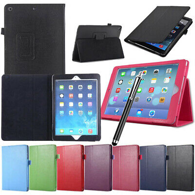 "Case Cover For Apple iPad 234/Mini/Air/9.7"" Flip Magnetic PU Leather Stand Case"