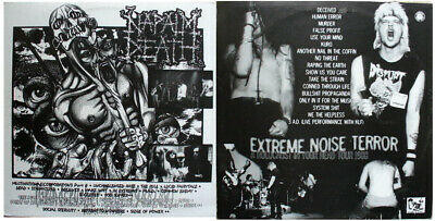 NAPALM DEATH - EXTREME NOISE TERROR LP live split 1st press NEW NEVER USED