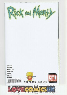 Rick And Morty #39 Florida Supercon Blank Sketch Cover Oni Press