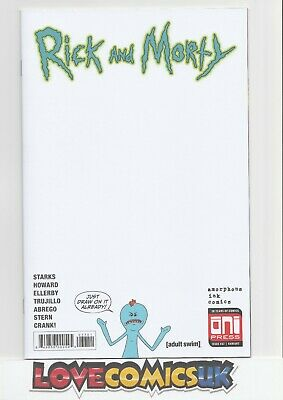 Rick And Morty #37 Blank Sketch Cover Variant Oni Press