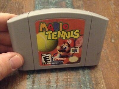 nintendo 64 N64 game Mario Tennis tested authentic
