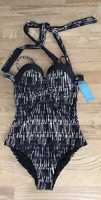 Marks/&Spencers Ladies Twisted Front Ruched Swim Suit M/&S Swimming Costume Size22