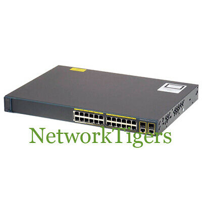 CISCO WS-C3560G-24PS-S 24-PORT 10/100/1000 PoE 3560 Switch - 1 Year