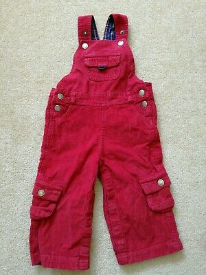 Jojo Maman Bebe Dungarees Boys Red 12-18 months Good condition Cute poppered