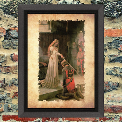 Curio Demon Odd Knight Knighted  Art Print Antique Effect Paper Buy 2 Get 1 Free