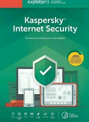 Kaspersky Internet security 2019 1 PC 1 Anno originale