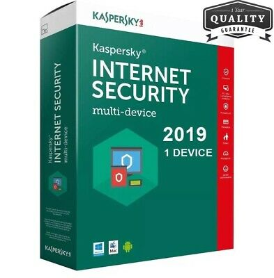 Kaspersky Internet Security 2019 1 PC - 360 -365 Giorni ESD