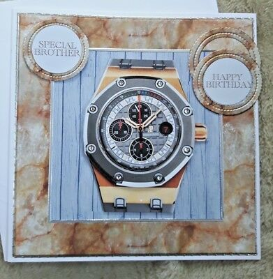 Handmade Birthday Card With 3D Chronograph Watch For Any Recipient
