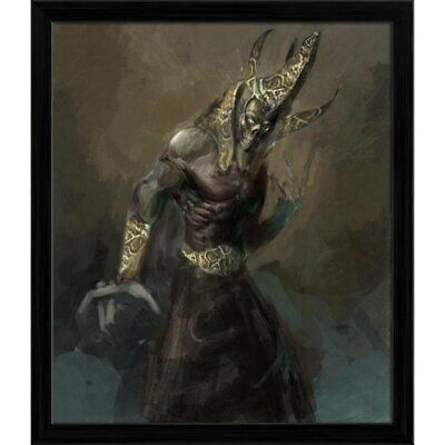 Ancient Wall Art Of Undead Egyptian Pharao Rising Canvas Painting For Home Décor