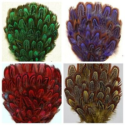 DYED PHEASANT FEATHER PAD - VARIOUS COLORS Headbands/Beads/Hats/Costume