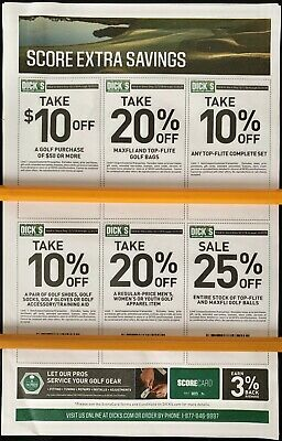 Dick's Sporting Goods GOLF Coupon - 25% OFF - Expires 12/31/2019