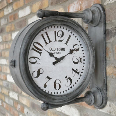 43cm Tall Old Town Clocks Double Sided Wall Mounted Clock (Indoor Only)
