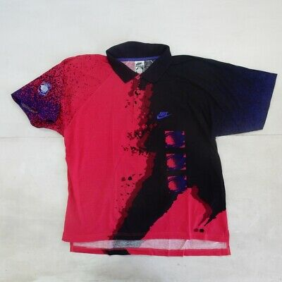 Nike Challenge Court Agassi Vintage Shirt Polo Maglia Jersey