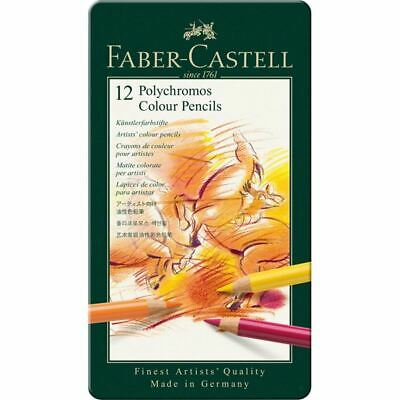 Faber-Castell Polychromos Colour Pencils tin of 12 RRP £25