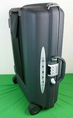 "Samsonite CART dbl Wheel Hardside 24"" Luggage Black Combo Lock"