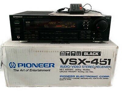 Pioneer VSX-451 AM/FM Pro-Logic Stereo Receiver, Excellent Condition, W/ Extras