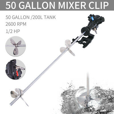 50 Gallon Automatic Pneumatic Mixer With Stand Paint Coating Mix Tool 1/2 HP
