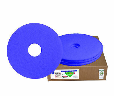 "Sanico MVP Warm Up 24"" Blue Scrubbing Floor Pad Light Cleaning (5 per case)"