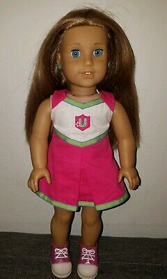 American Girl Mckenna Doll In Cheerleading outfit and shoes 18 inch Beautiful