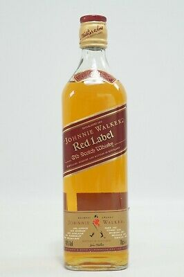 Johnnie Walker RED LABEL ca. 20 Jahre alt (1996-2004) 0,7l Flasche Whisky rar