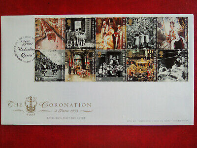 GB stamps collection First Day Cover 2003 Coronation SW1 cancel unaddressed.