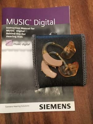 Nice Pre Owned SIEMENS Music Digital Hearing Aids Earmold BTE with Extras 2003