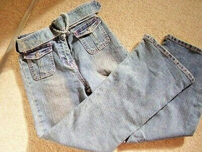 girls blue Jeans- trousers ,Size 7--8 years,good condition