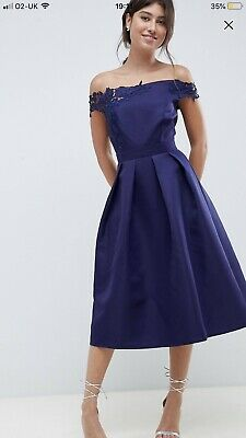 96add2dacc20 Little Mistress ASOS Prom dress size 16 14 Navy Royal Blue Lace Detail Worn  Once