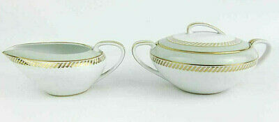 Vintage Noritake Mint Green Creamer & Covered Sugar Bowl Set # 5583 Circa 1954