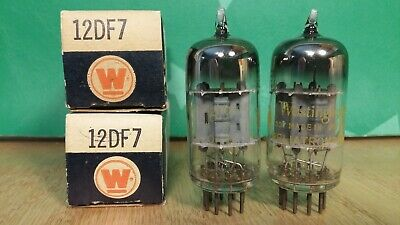 Matched Pair of Westinghouse 12DF7 (12AX7 sub) NOS NIB Vacuum Tubes