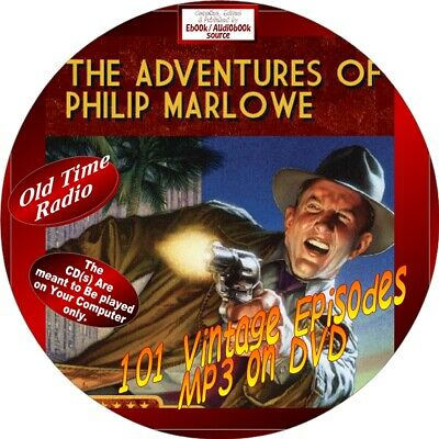 Adventures Of Phillip Marlowe Old Time Radio Show - 101 Vintage Episodes-Mp3-Dvd