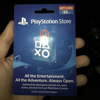 Playstation $25 Store card