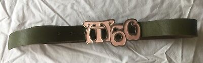 Miss Sixty Girls leather belt, Green with Pink Metal buckle