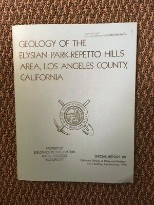 Geology California Elysian Park-Repetto Hills Los Angeles County