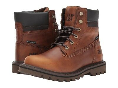 64ed1792651388 New Mens Caterpillar Cat Deplete Wp P721722 Waterproof Brown Leather Work  Boots